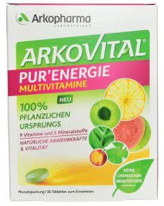 Arkopharma Arkovital Pur-Energie Vitamine/Mineral-Tabletten - 30 Stk.