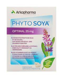 Phyto Soya OPTIMAL mit 35mg Isoflavonen und Salbei-Extrakt  - 60 Kapseln
