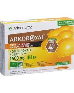 Arkopharma Royal Gelée Royale Bio 1500mg Duo - 2 x 20 Stk.