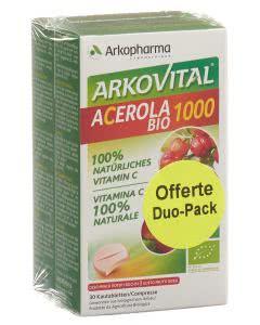 Arkovital Acerola Tabletten 1000 mg Bio Duo - 2 x 30 Stk.
