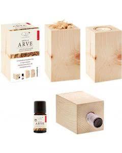 Aromalife Arven-Quader mit ätherischem 10ml Arven-Öl - 1 Set
