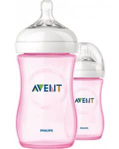 Avent Philips Naturnah Flasche rosa - 2 x 260ml