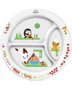 Avent Philips Teller weiss/mehrfarbig Teller - dreigeteilt ab 12 Monaten