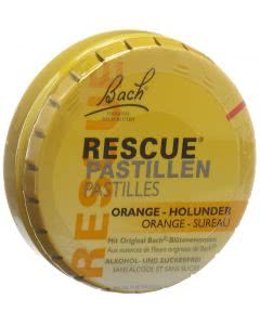 Bach Rescue Original - Lutschbonbons Dose - Orange/Holunder - 50g