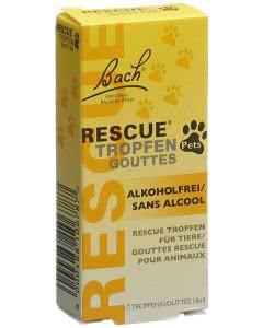 Bach Rescue (Notfall) Original - für Tiere - alkoholfrei! - 10ml Tropfen
