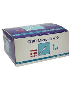 BD Microfine+ U40 Insulin Spritzen, 12.7 x 0.33 mm - 100 x 1 ml