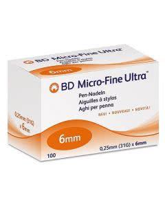 BD Microfine+ Ultra Pen Nadel 0.25 x 6mm - 100 Stk.