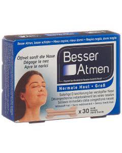 Besser Atmen Nasenpflaster beige gross - 30 Stk.