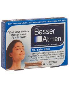 Besser Atmen Nasenpflaster beige normal - 10 Stk.