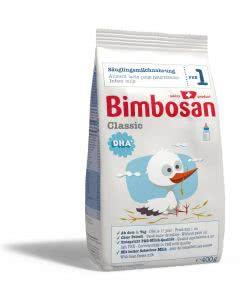 Bimbosan Classic 1 Säuglingsmilch ab Geburt - Nachfüllpack - 400g