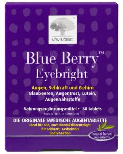 New Nordic Blue Berry Eyebright Augen-Sehkraft-Tabletten - 60 Stk.