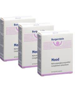 Set: 18% Rabatt und portofrei: Burgerstein Mood Safran Melisse B-Vitamine - 3x60 Kaps.