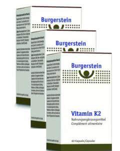 Spar-Set Burgerstein - Vitamin K 2-MK7 mit 180mcg - 3x60 Kaps.