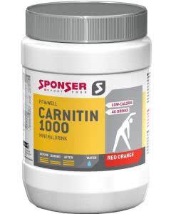 Sponser L-Carnitin 1000 Mineraldrink Blutorange - 400 g