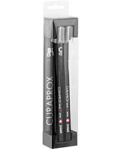 Curaprox Black Is White Zahnbürste CS Curaprox, Doppelpack schwarz