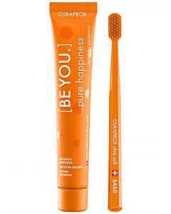 Curaprox be you Zahnpaste und Zahnbürste orange - 90ml