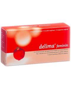 Delima feminin - Granatapfel- und Traubenkernoel - 15 Vaginalzäpfchen