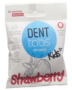 Denttabs Zahnputztabletten Strawberry mit Fluorid - 125 Stk.