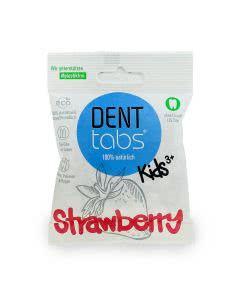 Denttabs Zahnputztabletten Strawberry ohne Fluorid - 125 Stk.