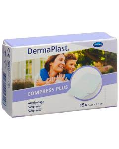 Dermaplast Compress Plus 5x7.5cm - 15 Stk.
