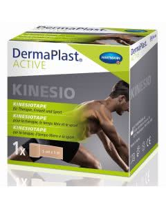 DermaPlast Active Kinesiotape - 5cm x 5m - hautfarben/beige