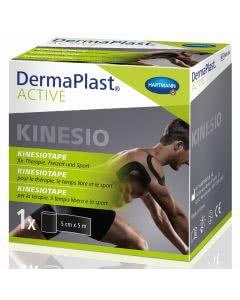 DermaPlast Active Kinesiotape - 5cm x 5m - schwarz