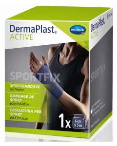 DermaPlast Active Sportfix Bandage - blau - 6cm x 5m