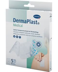DermaPlast Medical Transparentverband 10x9cm - 5Stk.