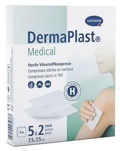 DermaPlast Medical Vlieskompresse - 7.5 x 7.5cm - 5Stk.