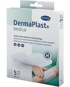 DermaPlast Medical Vliesverband - 10x8cm - 5Stk.