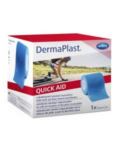 Dermaplast QuickAid Wundverband Pflaster - Blau - 6cm x 2m