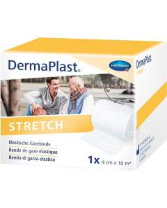 DermaPlast Stretch Gazebinde weiss - 4cm x 10m
