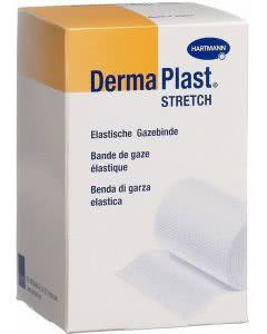 DermaPlast Stretch Gazebinde weiss - 8cm x 4m - 20 Stk.