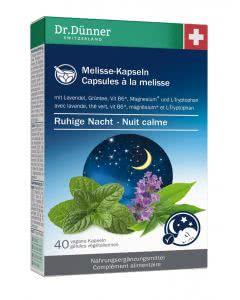 Dr. Dünner Melisse ruhige Nacht - 40 Kaps.