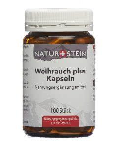 Naturstein Weihrauch plus Kapseln - 100 Stk.