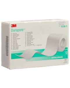 3M Durapore Seide Rollenplaster - 12 Stk. à 25mm x 9.14m