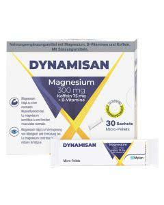 Dynamisan Magnesium 300mg mit Koffein und B-Vitaminen - 30 Sticks