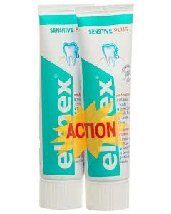 Elmex Zahnpasta - GRUEN - sensitiv - Duopack - 2 x 75ml