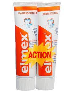 Elmex Kariesschutz Zahnpasta - ROT - Duopack