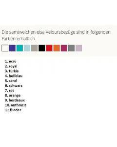 Elsa Kinder-Nackenkissen 50x7cm Veloursbezug Hellblau - 1 Stk.
