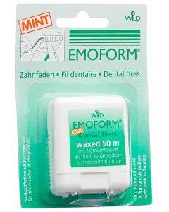 Emoform Zahnfaden im Kreditkartenformat mit Spiegel gewachst/Minze - 40m
