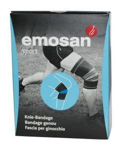 Emosan sport Kniebandage schwarz/blau XL - 1 Stk