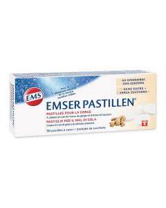 Emser Pastillen mit Ingwer zuckerfrei - 30 Stk.