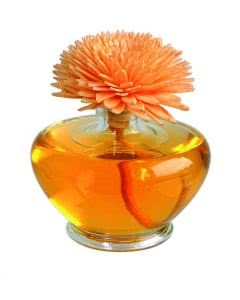 "Essence of Nature - Sesbania Orchidee Raumduft mit handgemachter Duftblume orange ""Summer Blossom"" 100ml"