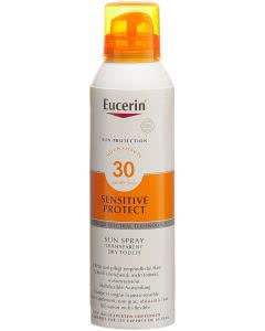 Eucerin Sensitive Protect Sun Spray Transparent Dry Touch LSF 30 - 200ml