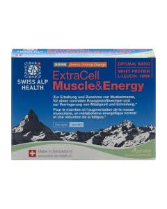 ExtraCell Muscle & Energy Drink Orange - 10 Portionen