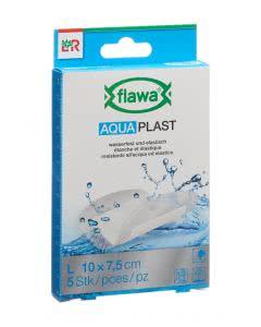 Flawa Aqua Plast Schnellverband transparent - 10 x 7.5cm - 5 Stk.