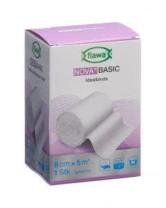 Flawa Nova Basic elastische Mittelzugbinde weiss - 8cm x 5m