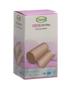 Flawa Nova Extra elastische Mittelzugbinde hautfarbig - 10cm x 5m
