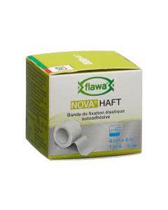 Flawa Nova Haft selbsthaftende elastische Gazebinde weiss - 4cm x 4m